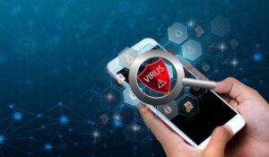 poszukiwania wirusa w smartfonie