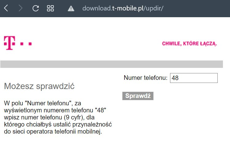 T-mobile NMP