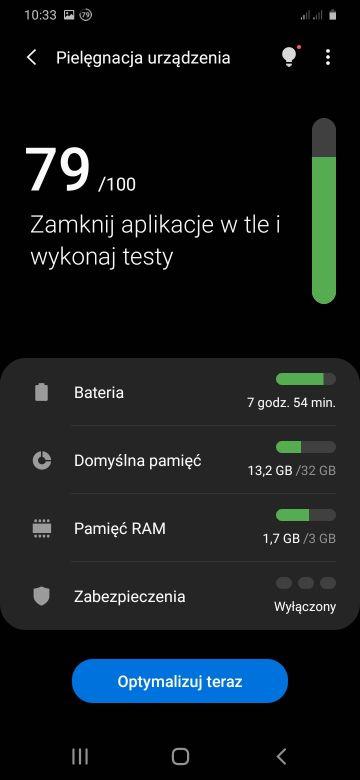 Pielęgnacja urządzenia - pamięć RAM